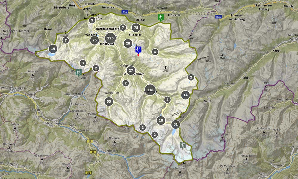 Interaktive Karte Montafon