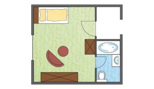 Ground plan Guest House single room