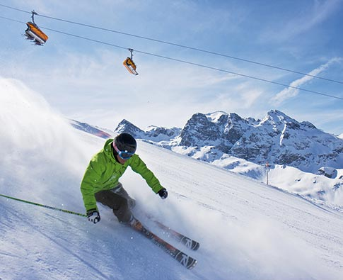 Silvretta Montafon skifahren