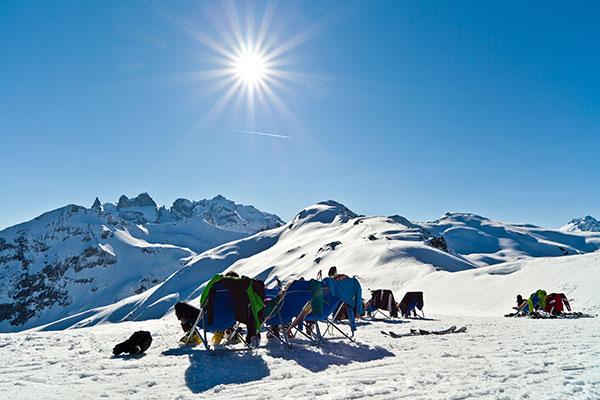 Skifahren Frühhling Montafon